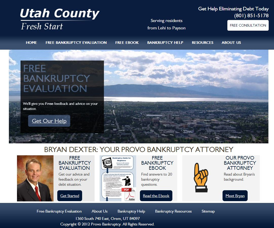 Sebo Marketing - Free Bankruptcy Lawyer Websites