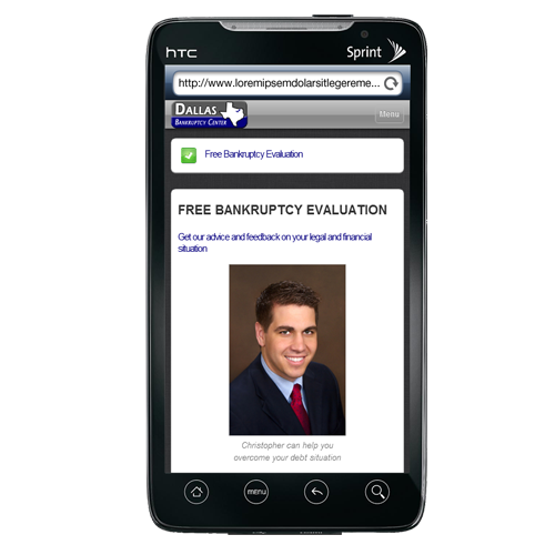 Mobile websites adapt your site content to make it more mobile friendly