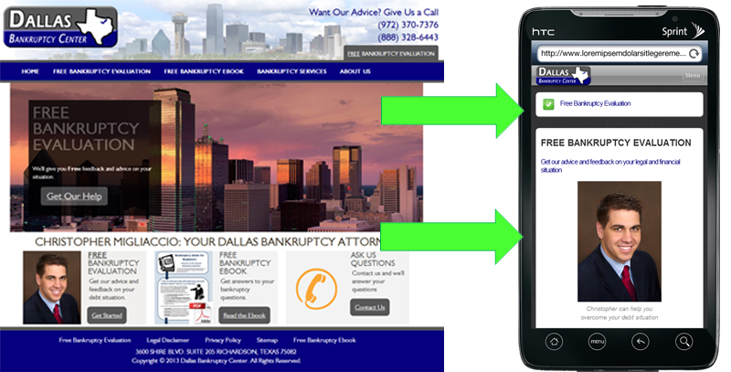 Your mobile site can maintain the same feel as your desktop site, but with added functionality