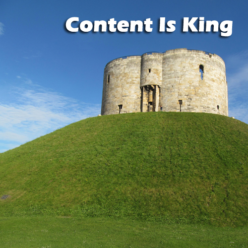 As you develop and market high quality content, you build a castle that defends your market share from competitors